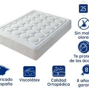 Colchón de Viscolátex Marbella, 25 cm de Altura, Ortopédico | EXCLUSIVO ONLINE