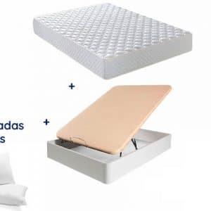 Pack Canapé + Colchón Los Ángeles y de Regalo un Pack de Almohadas de microfibra