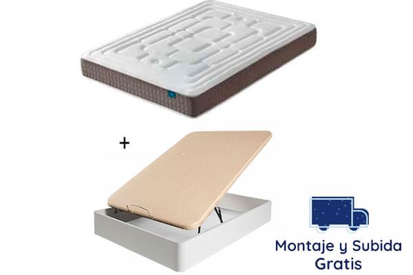 Pack Canapé + Colchón de Alta Gama Viena 22 cm con Viscoelástico Inteligente
