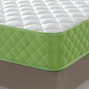 Pack Colchón Evergreen de 15 cm con Viscosoja + base tapizada  Marsella con tejido 3D  Efecto Frescor, Antideslizante, anti rayaduras