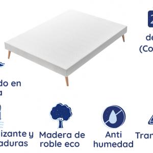 Colchón Starlet de 15 cm + Somier Tapizado Marsella Top confort