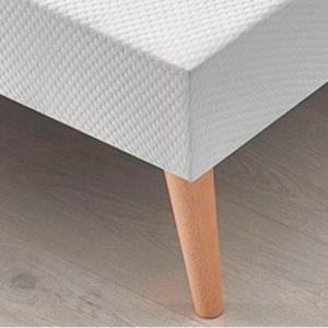 Somier tapizado Marsella con tejido 3D  Efecto Frescor, Antideslizante   Patas de madera Eco Gratis