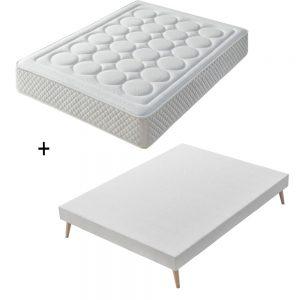 Colchón Chollo Supreme de 20 cm altura + base tapizada top confort